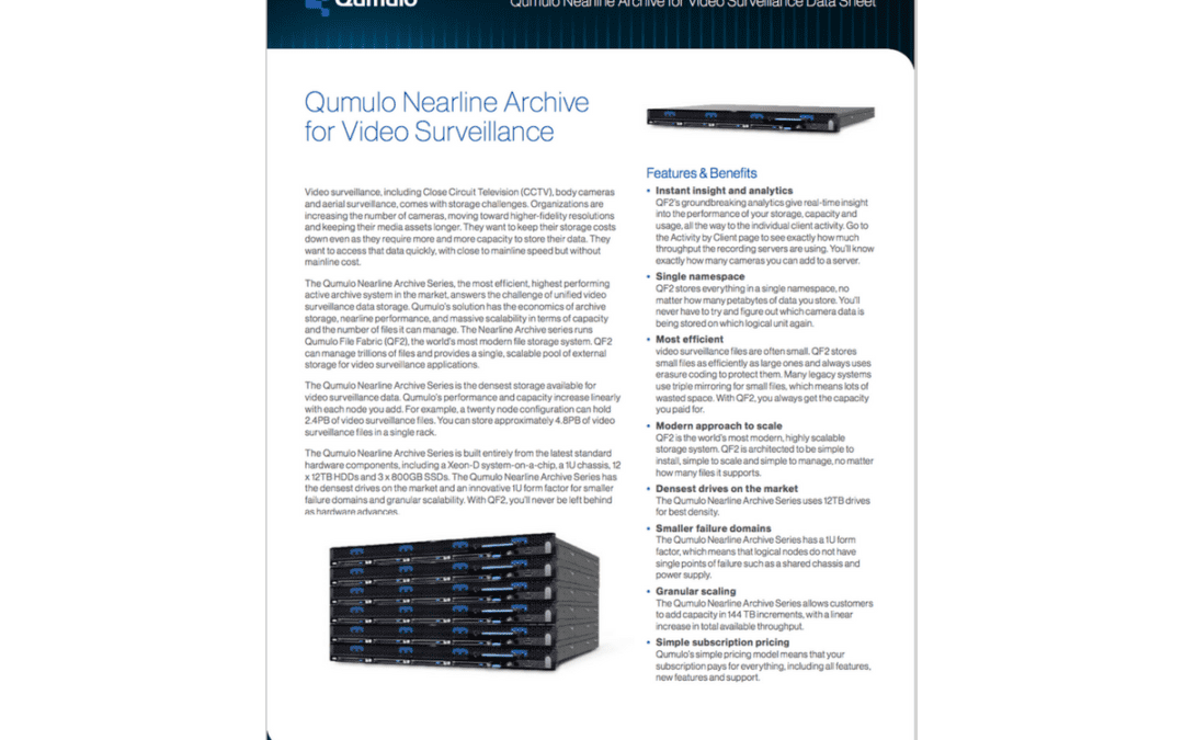 Data Sheet: Nearline Archive for Video Surveillance
