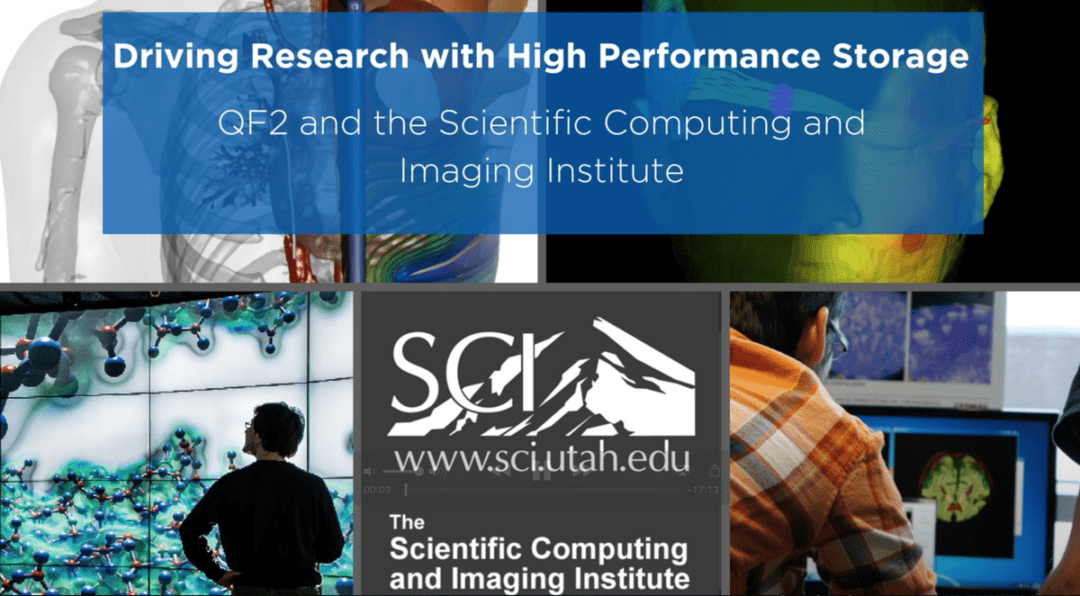 Driving Research with High Performance Storage: QF2 and the Scientific Computing and Imaging Institute