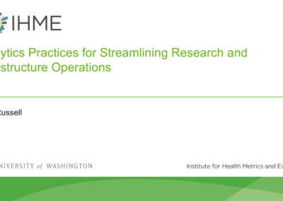 Analytics practices for streamlining research and infrastructure operations