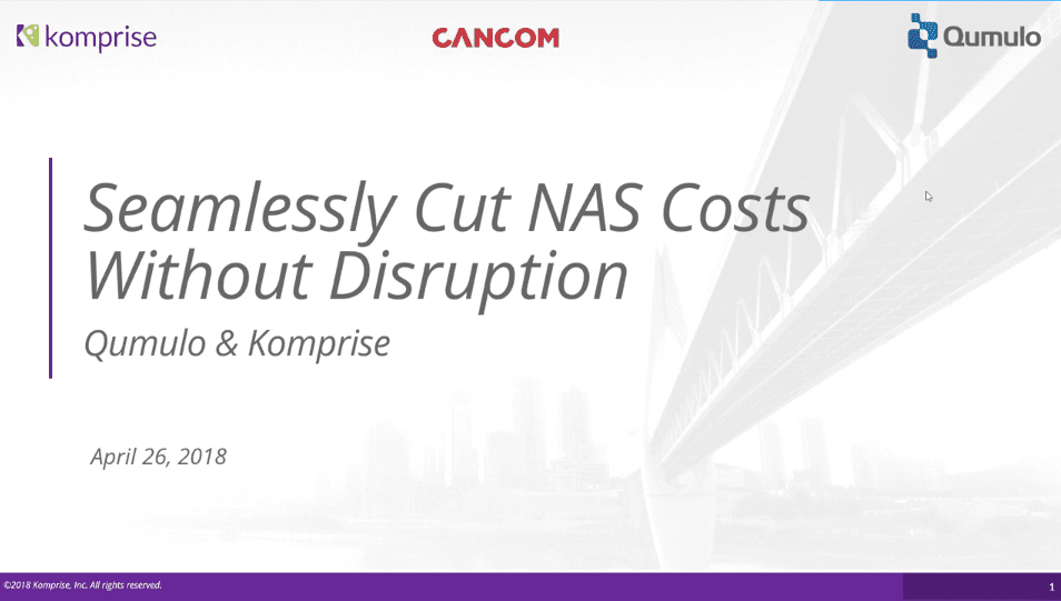 Seamlessly Cut NAS Costs Without User Disruption