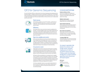 QF2 for Genomic Sequencing