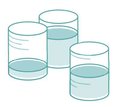 illustration showing volumes or silos of file data