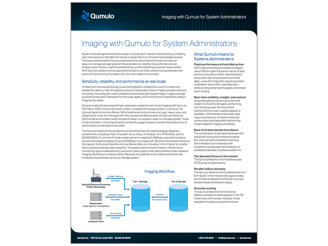 Imaging with Qumulo for System Administrators