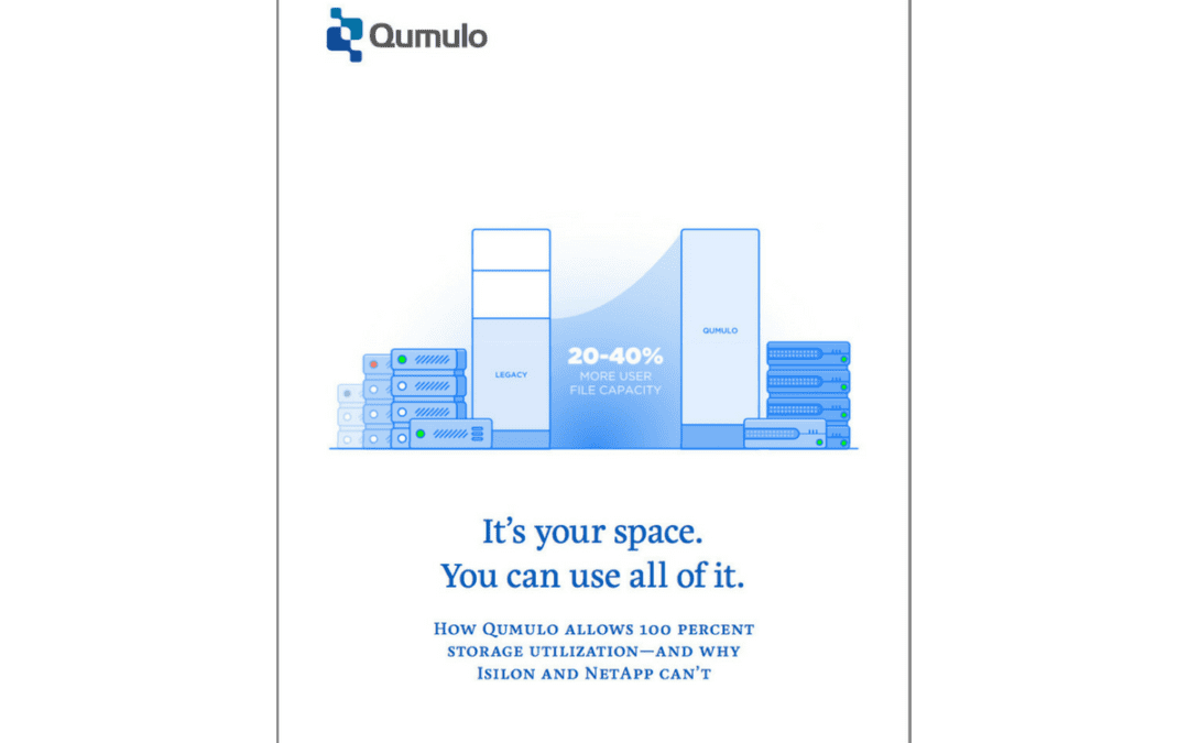 How Qumulo is different: Usable capacity means usable capacity