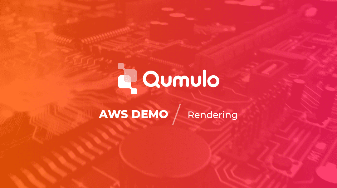 video - demo of production in the cloud with qumulo and aws