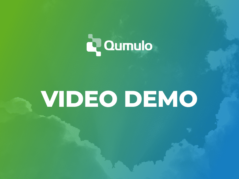 Video demo: Host a virtual studio in the cloud with Qumulo