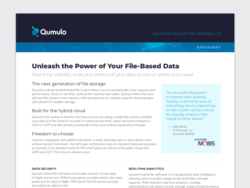 Qumulo Overview: Unleash the Power of Your File-Based Data
