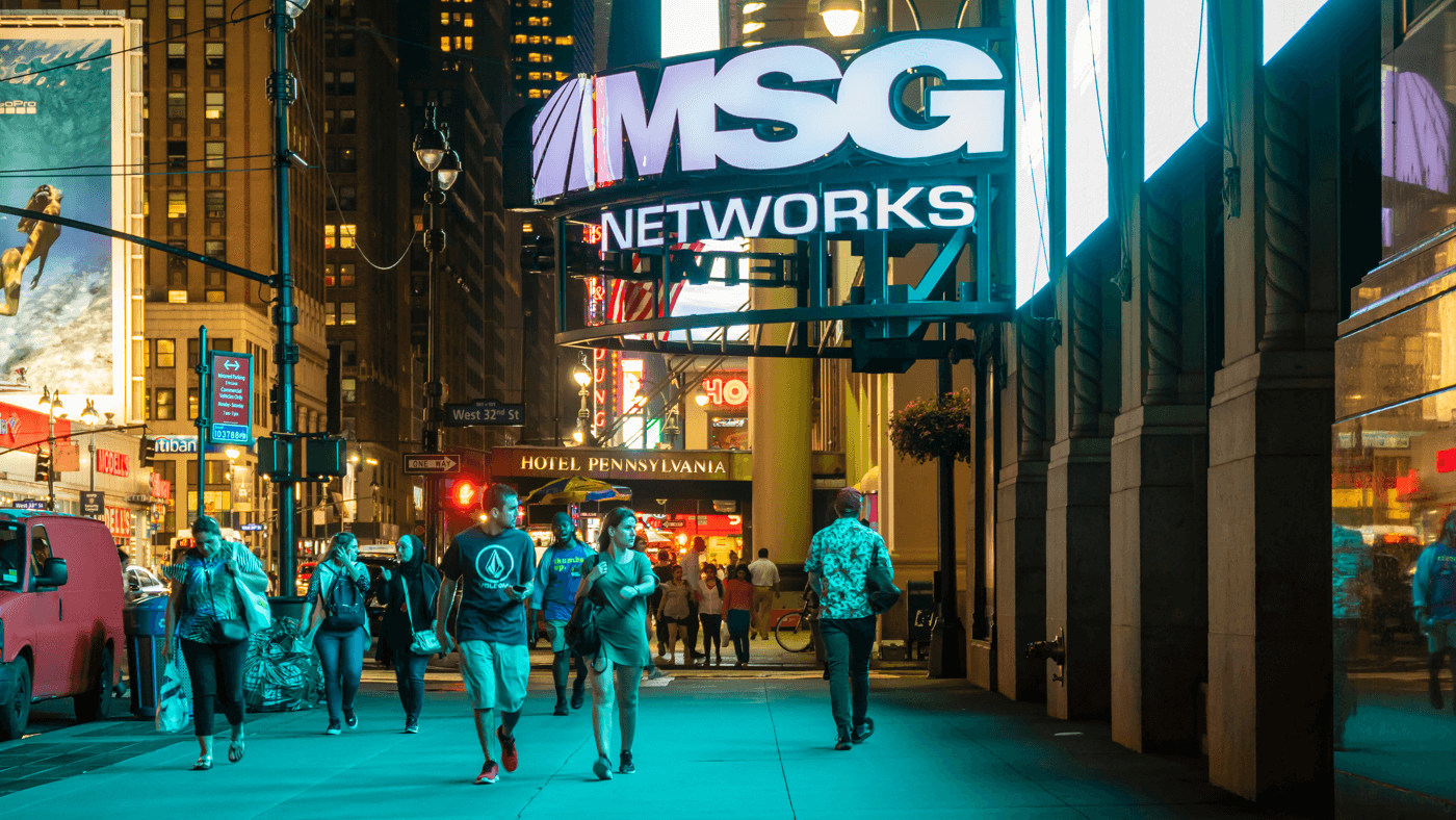 Image of Madison Square Garden sidewalk entrance