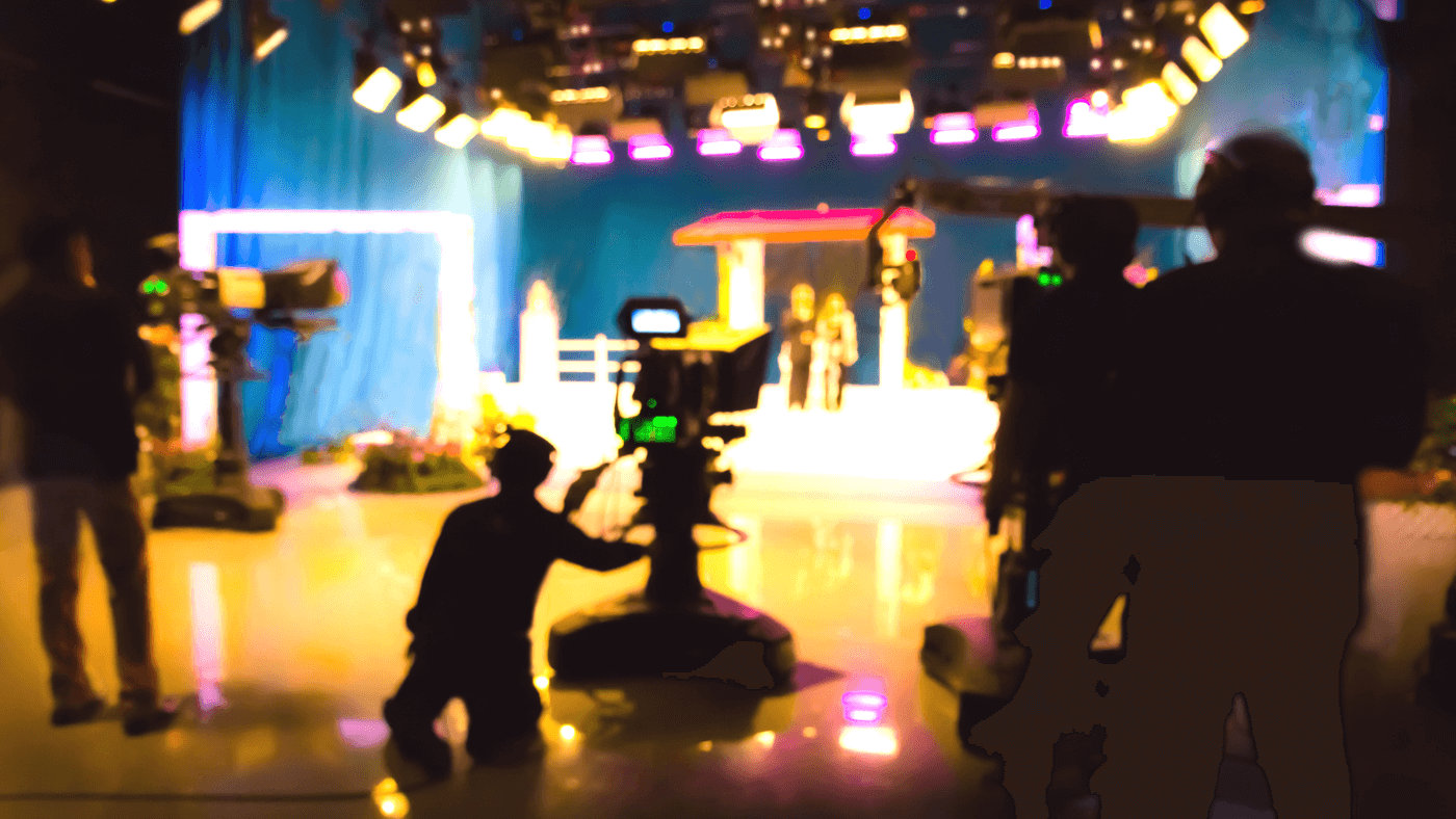 Image of a generic television studio