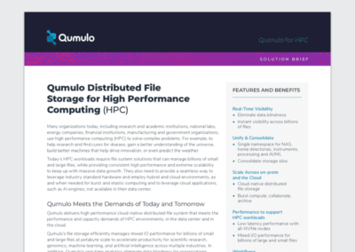 Qumulo for High Performance Computing (HPC)