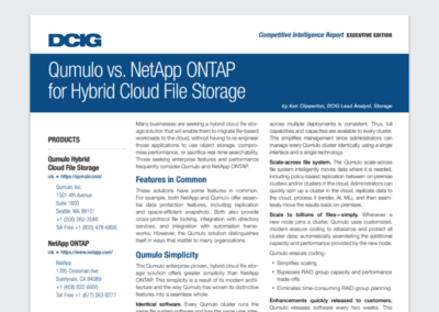 Qumulo vs NetApp, Competitive Analysis Report