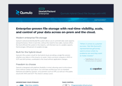 Qumulo Hybrid Cloud File Storage avec HPE