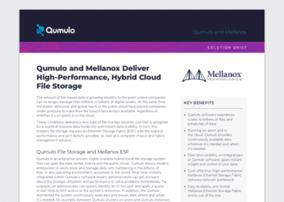 Qumulo and Mellanox Solution Brief