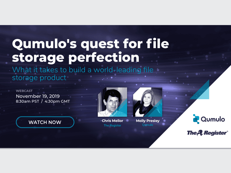 Qumulo's quest for file storage perfection
