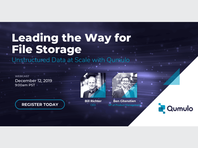 Leading the Way to File Storage: Unstructured Data at Scale with Qumulo