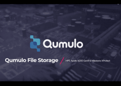 Qumulo with HPE and Milestone XProtect