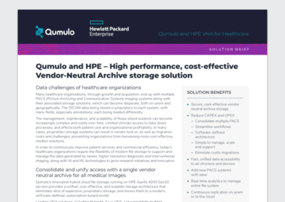 Qumulo and HPE VNA for Healthcare