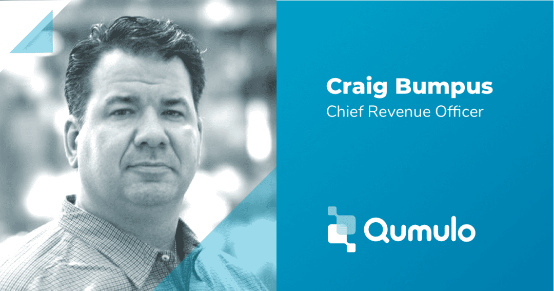 Qumulo nomme Craig Bumpus au poste de Chief Revenue Officer