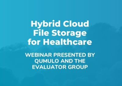 Qumulo Hybrid Cloud File Storage for Healthcare