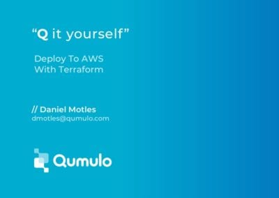 Deploy Qumulo on AWS with Terraform Provisioning Tool