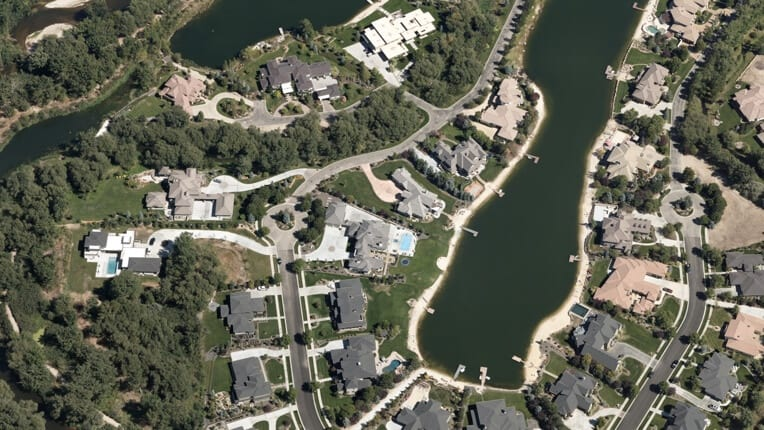 Vexcel Aerial Photographic View of Neighborhood