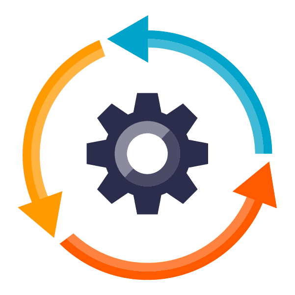 file data platform: icon of a gear and circle, symbolizing automation capabilities