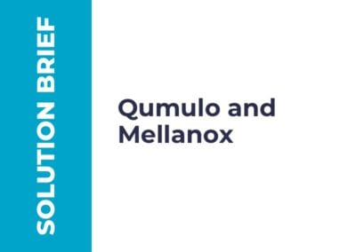 Partner Solution Brief: Qumulo and Mellanox