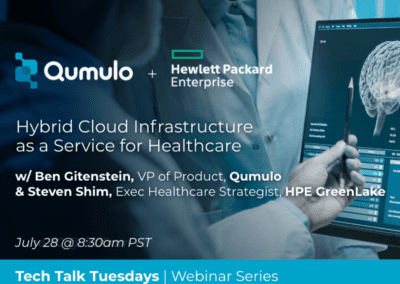 HPE + Qumulo: Hybrid Cloud Infrastructure as a Service for Healthcare