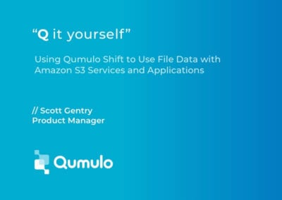Using Qumulo Shift to Use File Data with Amazon S3 Services and Applications