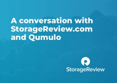 A conversation with StorageReview.com and Qumulo