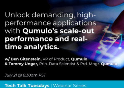 Unlock demanding, high-performance workloads with Qumulo's scale-out performance and real-time analytics