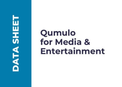Qumulo for Media & Entertainment