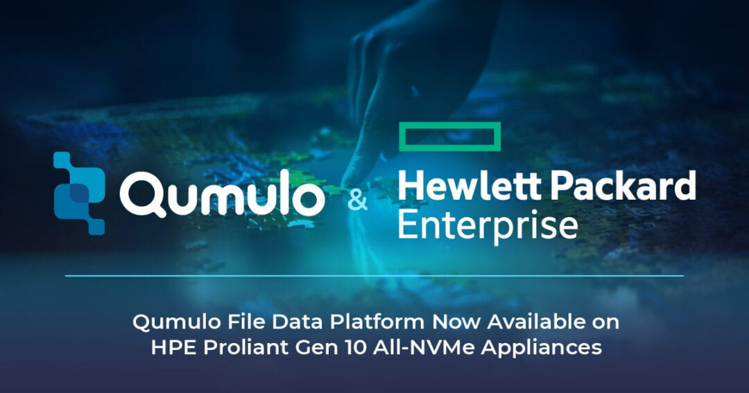 Qumulo and Hewlett Packard Enterprise Partner to Deliver Simplicity and Performance to Unstructured Data Environments