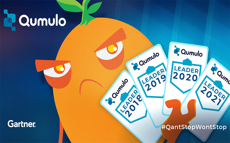 Qumulo Leader Gartner Magic Quadrant for Distributed File Systems and Object Storage